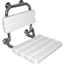 KOLO LEHNEN FUNKTION sklopné sedátko pro sprchování 486x525x500mm s opěrkou, nerezová ocel, PVC L1221100