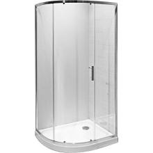 JIKA TIGO asymetrický sprchový kout 980x780x1950mm levopravá varianta, stříbrná/transparentní 2.5121.1.002.666.1