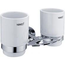 NIMCO UNIX držák na skleničku a kartáčky 210x110x130mm chrom/bílá UN 13057DK-26