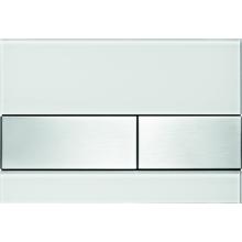 TECE SQUARE WG904/RG3 ovládací tlačítko 220x150mm, dvoumnožstevní splachování, bílé sklo/broušená nerezová ocel