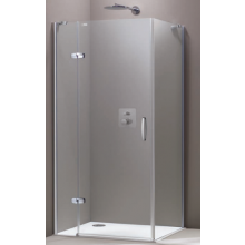 Zástěna sprchová boční Huppe sklo Aura elegance na podlahu Akce 2000 mm stříbrná matná/Intima AP