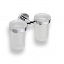 Doplněk držák se skleničkou GOZ METAL Inox II se 2 skleničkami 200x120x107 mm chrom