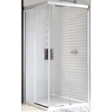 HÜPPE DESIGN PURE E2 900/900 posuvné dveře 1000x1000x1900mm rohový vstup dvoudílný, stříbrná matná/čirá anti-plague 8P2903.087.322.730