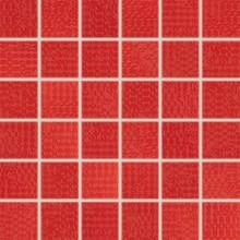 RAKO TRINITY mozaika 30x30cm, lepená na síťce, červená
