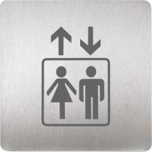 SANELA SLZN44J piktogram výtah, 120x120mm, nerez mat
