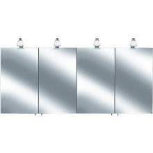 KEUCO ROYAL 30 zrcadlová skříňka 1600x143x758mm, s osvětlením, stříbrná