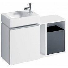 GEBERIT ICON XS postranní prvek 37x24,5cm závěsný, bílá lesklá 840137000