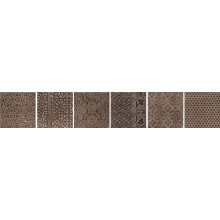 IMOLA WOOD dekor 16,5x16,5cm brown, VOYAGES T MIX