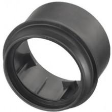 OTTO HAAS přechodná část DN110/90 k připojovacímu kolenu, k PE-závěsnému WC, s možností sváření, polyethylen, černá