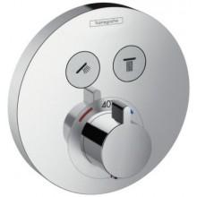 Ventil podomítkový Hansgrohe - Shower Select S termostat pro 2 spotřebiče, vrchní sada  chrom