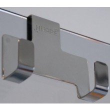 HÜPPE háček na stěrku 74x30x62mm, chrom