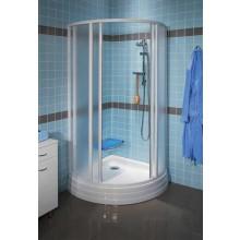 RAVAK SUPERNOVA SKKP4-90 zástěna sprchová 875-895x1850mm, čtvrtkruhová posuvná, bílá/transparent