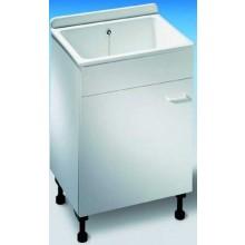 NICOLL ABU mycí box 610x455x960-985mm se skříňkou, plast, bílá
