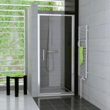 Zástěna sprchová dveře Ronal sklo TOP-line 1000x1900 mm matný elox/cristal perly
