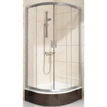RAVAK BLIX BLCP4-80 SABINA sprchový kout 775-795x1750mm čtvrtkruhový, posuvný, čtyřdílný, snížený, white/tranpsarent 3B240140Z1