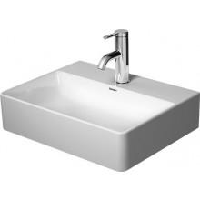 DURAVIT DURASQUARE umývátko 450x350x140mm nábytkové, s otvorem, bílá alpin