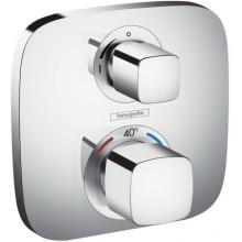 Baterie sprchová Hansgrohe podomítková termostatická Ecostat s uzavíracím ventilem, vrchní sada  chrom