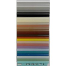 MAPEI ukončovací profil 9mm, 2500mm, venkovní, PVC/100 bílá