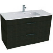 JIKA CUBE skříňka s umyvadlem 1000x340x607mm, tmavý dub/tmavý dub 4.5365.2.176.302.1
