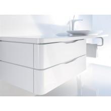 Nábytek skříňka Duravit PuraVida spodní pod desku 2 zásuvky 550x460 mm bílá vysoký lesk