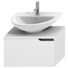 JIKA MIO umyvadlová skříňka 650x390x390mm 1 zásuvka, s límcem, bílá/bílá