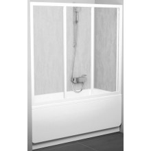 RAVAK AVDP3 160 vanové dveře 1570-1610x1380mm třídílné, posuvné, bílá/rain 40VS010241