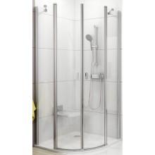 RAVAK CHROME CSKK4 90 sprchový kout 900x900x1950mm čtvrtkruhový, čtyřdílný satin/transparent 3Q170U00Z1