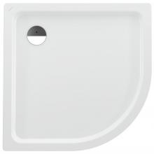 LAUFEN PLATINA sprchová vanička 1000x1000mm ocelová, čtvrtkruhová, s protihlukovou izolací, bílá