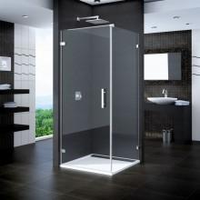 SANSWISS PUR PUDT2P boční stěna 900x2000mm s vyrovnávacím profilem, chrom/čiré sklo Aquaperle