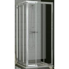 SANSWISS TOP LINE TOE3 G sprchové dveře 800x1900mm, třídílné posuvné, levý díl pro rohový vstup, aluchrom/sklo Cristal perly