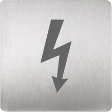 SANELA SLZN44P piktogram pozor elektrické zařízení, 120x120mm, nerez mat