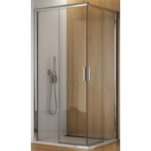 SANSWISS TOP LINE TBFAC sprchové dveře 900x1900mm, rohový vstup, dvoudílné posuvné, bílá/čiré sklo