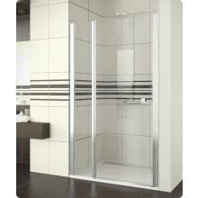 Zástěna sprchová dveře Ronal Swing-Line SL13 0900 04 07 900x1950mm bílá/čiré AQ