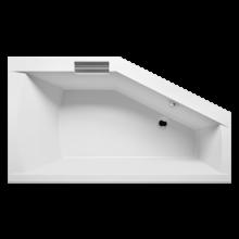 Vana plastová Riho tvarovaná Geta 170 levá 170x90cm bílá