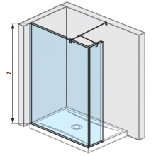 JIKA PURE boční stěna 130cm, transparentní 2.6742.7.002.668.1