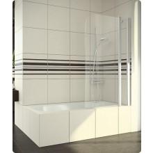 Zástěna vanová Ronal sklo SWING-line 1100x1500 mm aluchrom/čiré AQ