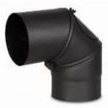 MORAFIS SEVER koleno otočné 90 120mm, s čistícím otvorem, ocel, černá
