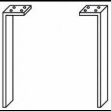 JIKA TIGO nohy ke skříňkám, pár, stříbrná 4.5530.1.021.004.1