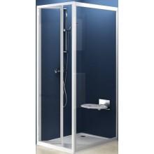 Zástěna sprchová dveře Ravak sklo PSS-pevná stěna 80 bílá/grape