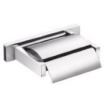 INDA LEA držák toaletního papíru 17x11x4cm s krytem, nástěnný, chrom