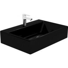 VILLEROY & BOCH MEMENTO umyvadlo 600x420x140mm, k postavení na desku, s přepadem, Glosy black CeramicPlus S0