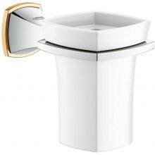 GROHE GRANDERA držák 127x102mm, s keramickým pohárkem, chrom/zlatá