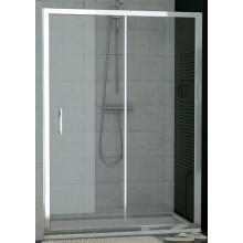 SANSWISS TOP LINE TOPS2 sprchové dveře 1400x1900mm, jednodílné posuvné s pevnou stěnou v rovině, aluchrom/sklo Durlux