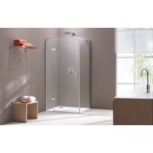 CONCEPT 300 sprchové dveře 800x1900mm křídlové, s pevným segmentem, levé, stříbrná/čiré sklo PT432301.092.322