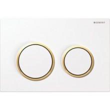 GEBERIT OMEGA 20 ovládací tlačítko 21,2x14,2cm, bílá/zlatá 115.085.KK.1