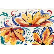 IMOLA SHADES dekor 20x60cm red, FLOWERS SUN MIX