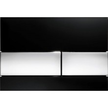 TECE SQUARE ovládací tlačítko 220x11x150mm dvojčinné, sklo černá/chrom