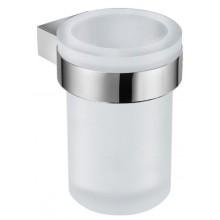 JIKA PURE držák 95x95mm se skleničkou, chrom/matné sklo