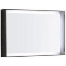 KERAMAG CITTERIO zrcadlo 88,4x58cm s LED osvětlením, šedohnědý dub 835691000