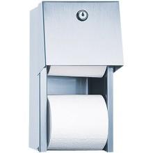 SANELA SLZN26 zásobník dvou toaletních rolí, na stěnu, nerez mat